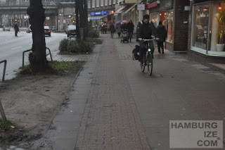 Geisterradler in der Hudtwalckerstrasse