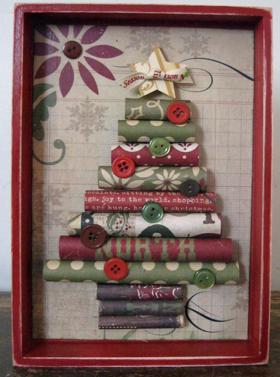 Day 2 Rolled Christmas Tree Idea Closet