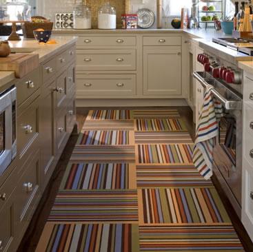Carpet tiles for kitchen floor