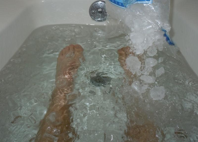 Ice bath after run