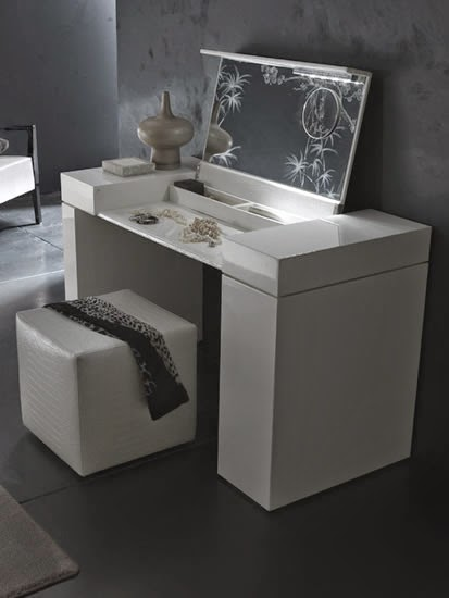 contemporary white dressing table designs by rosseto
