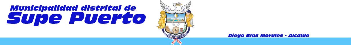 Municipalidad Distrital de Supe Puero