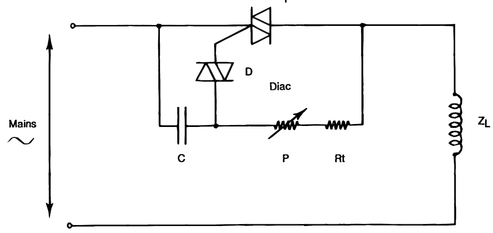 how to use triacs for controlling inductive loads like transformers and ac motors