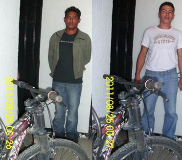 Detienen a sujetos por robo de bicicleta