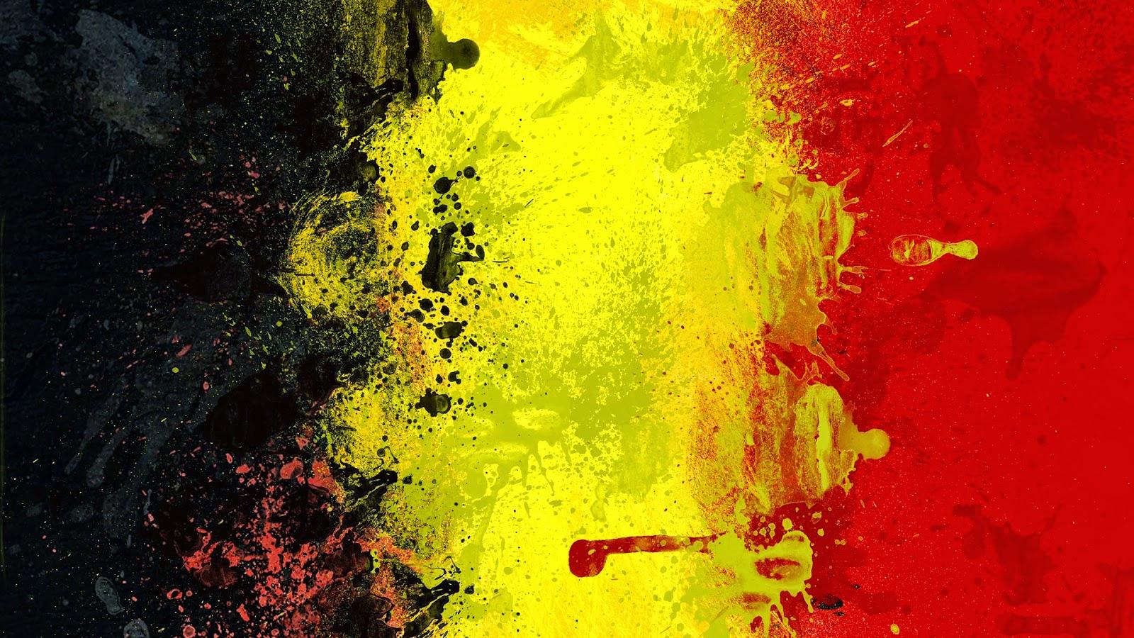 Geschilderde vlag van België wallpaper