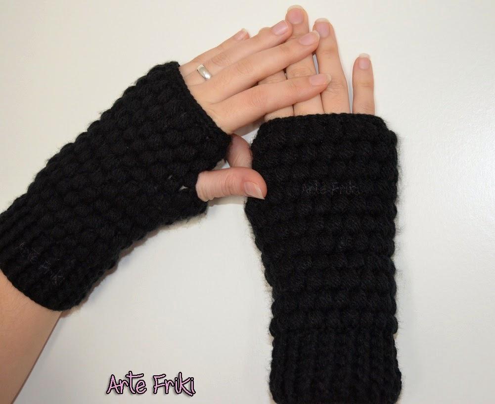 crochet mittens ganchillo mitones