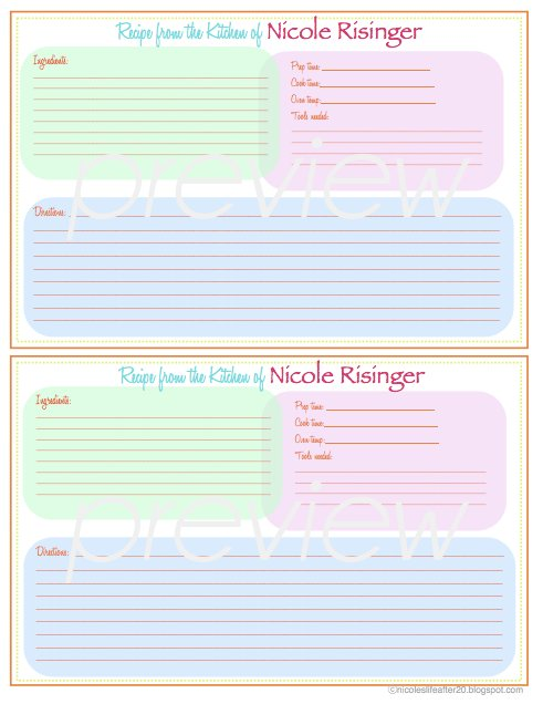 A Living Sacrifice: Some Friday Love: Recipe Binder Printable!