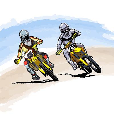 images de pilotes de motos de motocross