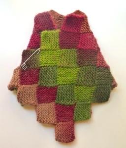 scaldacollo lana maglia entrelac