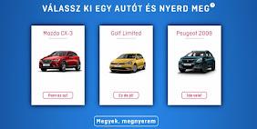 Válassz ki egy autót és nyerd meg!