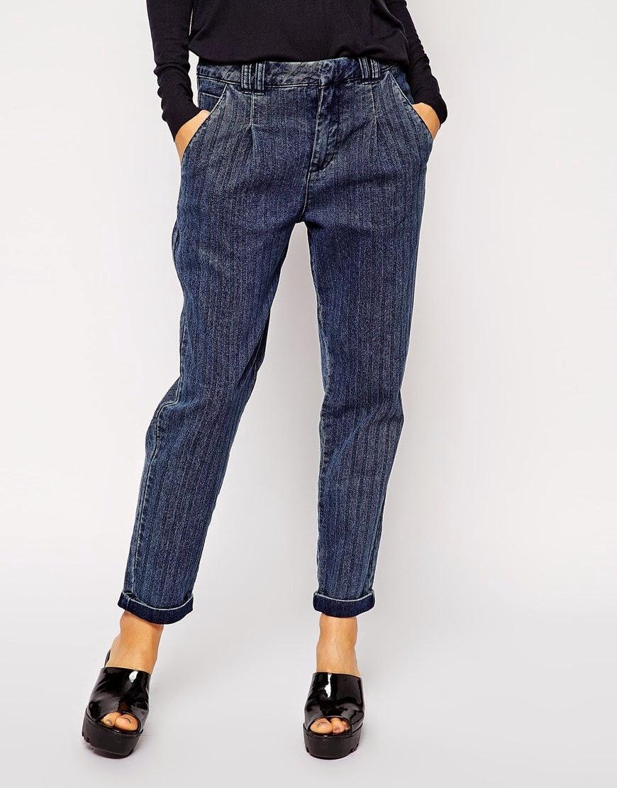 stripe women jeans