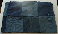 kosmetyczka ze starych jeansów