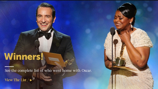 Oscar Winners 2012 - Academy Awards Winners List