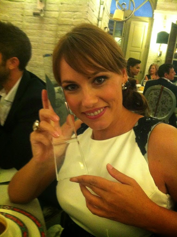 "CAROLINA CASADO PREMIO ""MEJOR PRESENTADORA DE TV"""