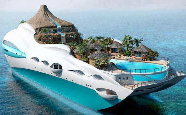 Tropical Island Yacht Cruise Ship UK