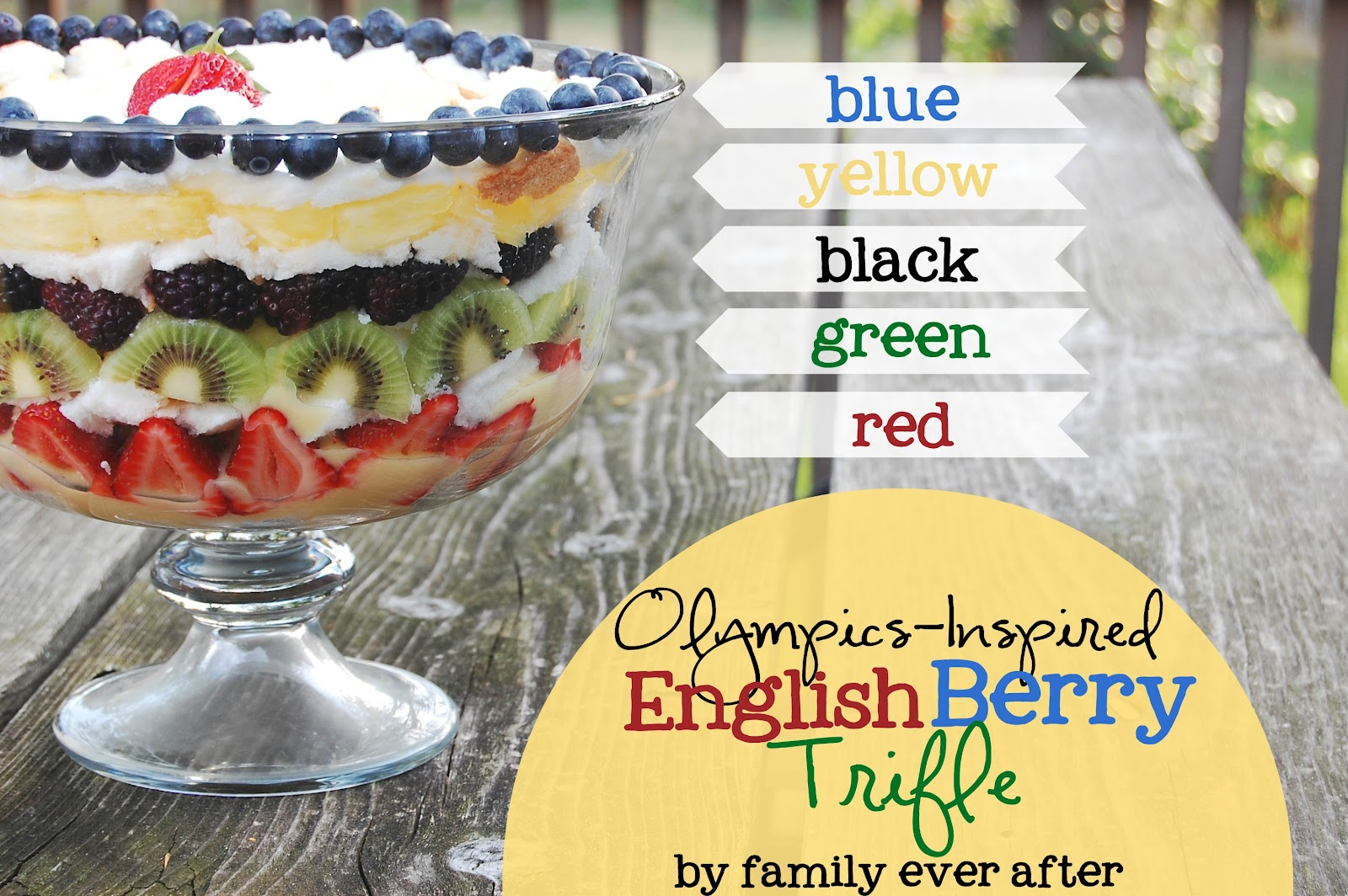 Family Ever After....: Olympic English Trifle Dessert