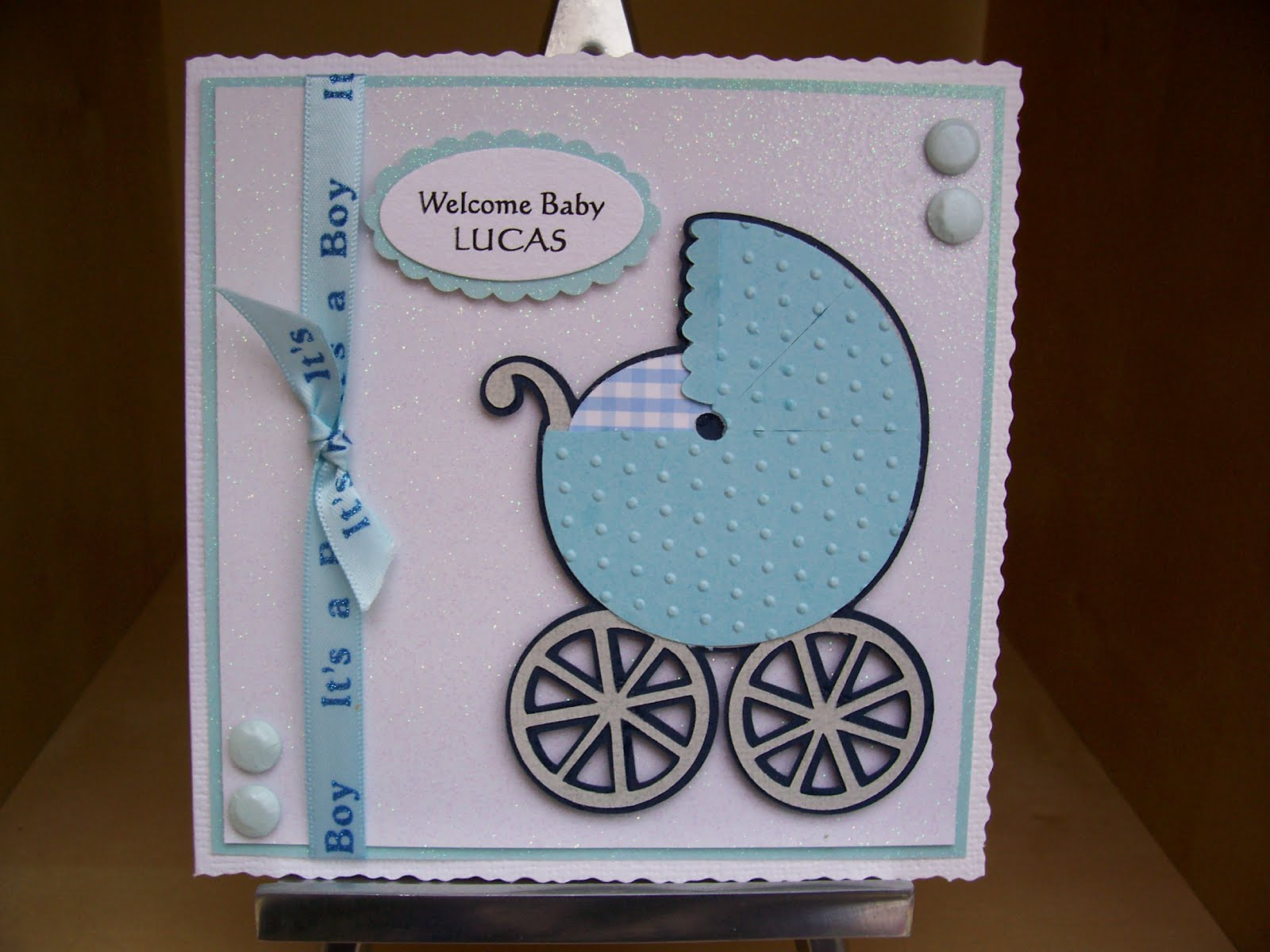 Little Miss Muffet's Crafty Moments: A New baby Boy Card ...