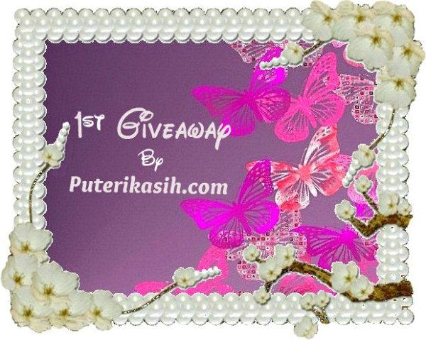1st Giveaway By Puterikasih.com