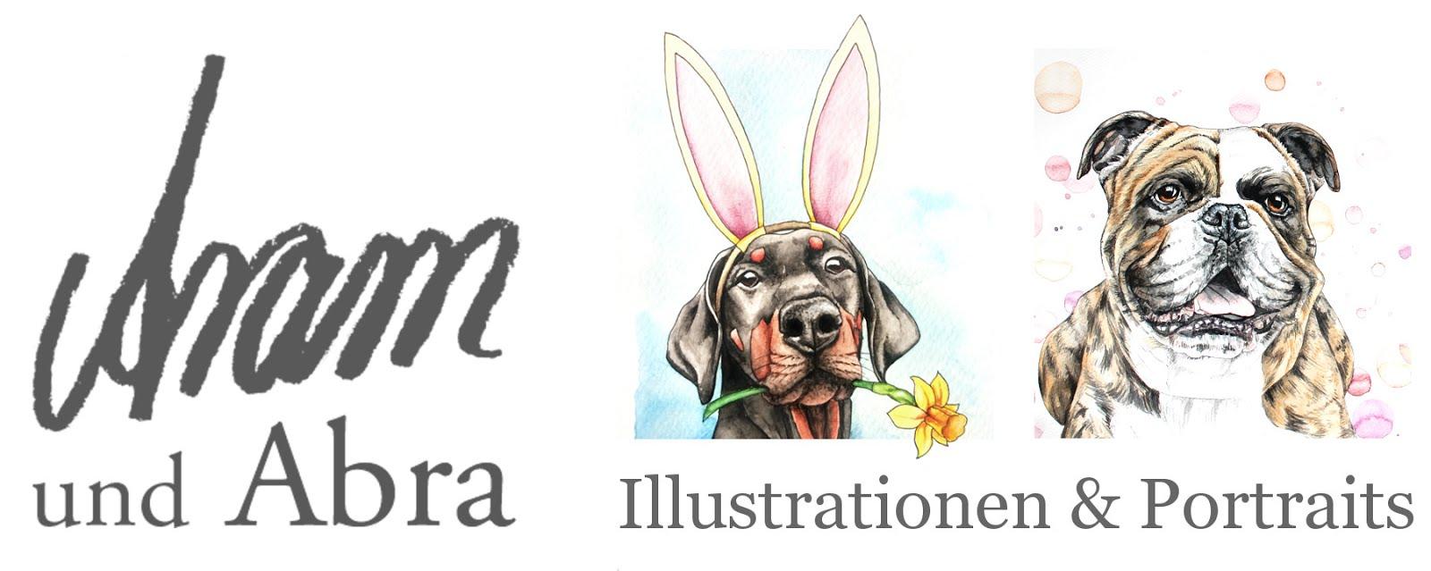 Aram und Abra - Illustrationen und Portraits | Hundeblog und Kunst