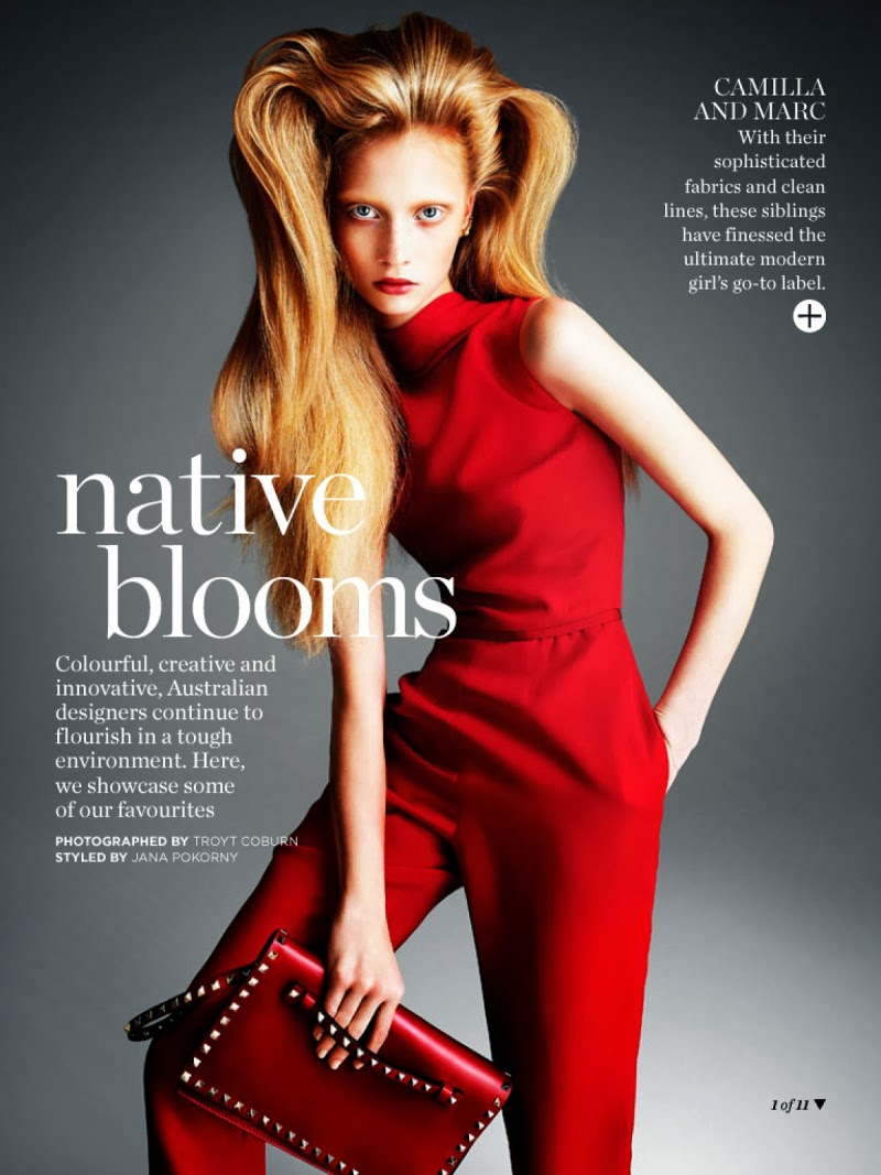 Native Blooms HQ Pictures Marie Claire Australia Magazine Photoshoot March 2014 By Troyt Coburn