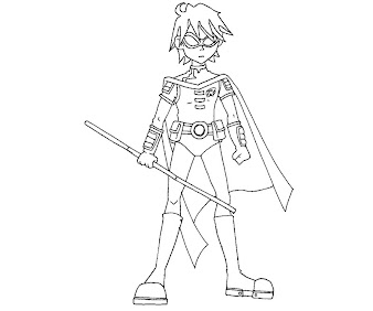 #11 Robin Coloring Page