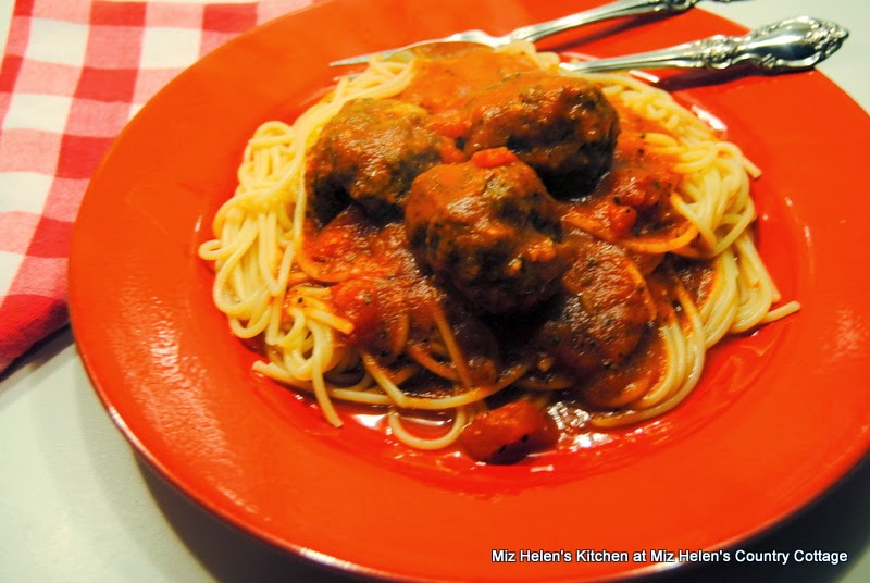 Italian Meatballs with Sauce, Add Pasta  at Miz Helen's Country Cottage