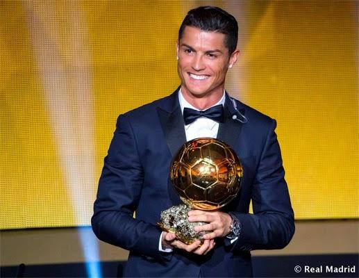 Cristiano Ronaldo gana su 3º Balón de Oro