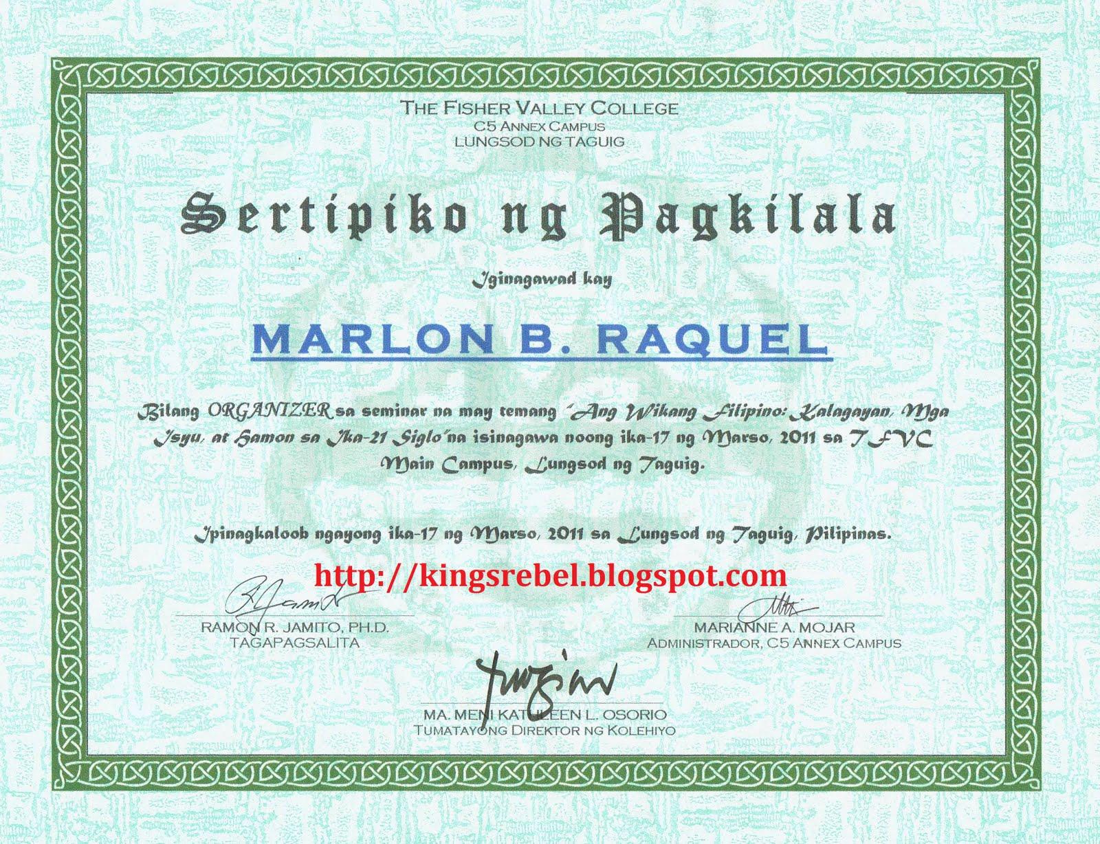 Tidbits and bytes sertipiko ng pagkilala organizer seminar sa tidbits and bytes sertipiko ng pagkilala organizer seminar sa wikang filipino yelopaper Choice Image