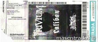 entrada de concierto de trivium