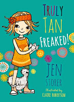 Out Now. This is book four. Book five, Truly Tan: Hoodwinked, May 2016!