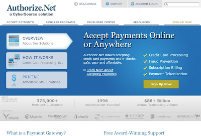 Authorize homepage