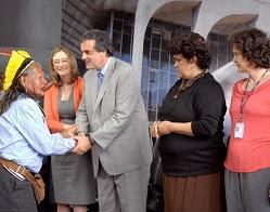 Raoni, José Eduardo Cardozo, Izabella Teixeira, Marta Azevedo.