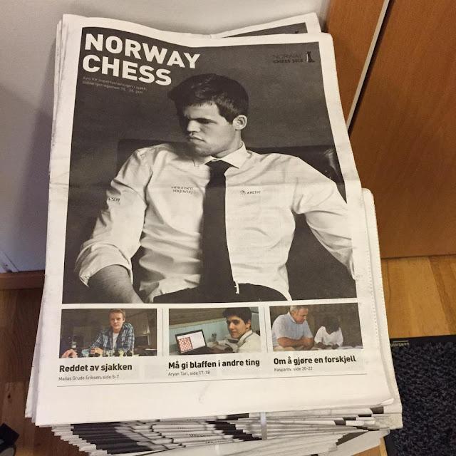 Portada de la revista Norway Chess