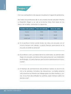 Apoyo Primaria Desafíos matemáticos 5to grado Bloque I lección 15 ¿Mañana o noche?