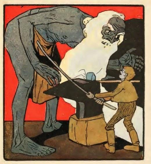 Bajka o jednym takim, co wyruszył w świat by strach poznać, Baśnie na Warsztacie, Mateusz Świstak, ilustracje baśni,
