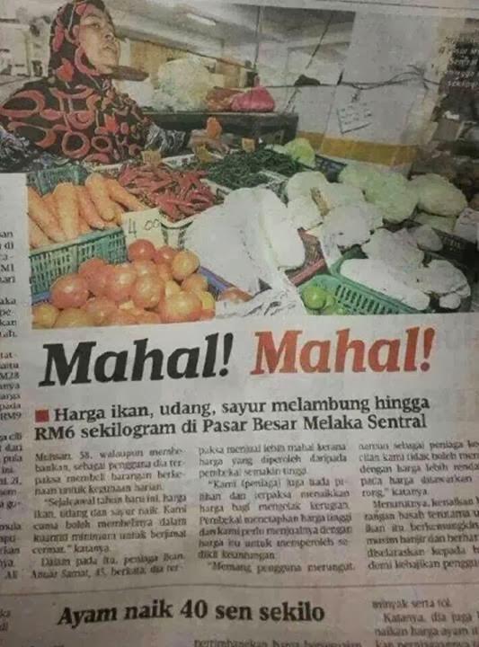 dasar makanan, harga makanan naik, orang tengah, harga barang naik, harga sayur naik, harga ikan naik,