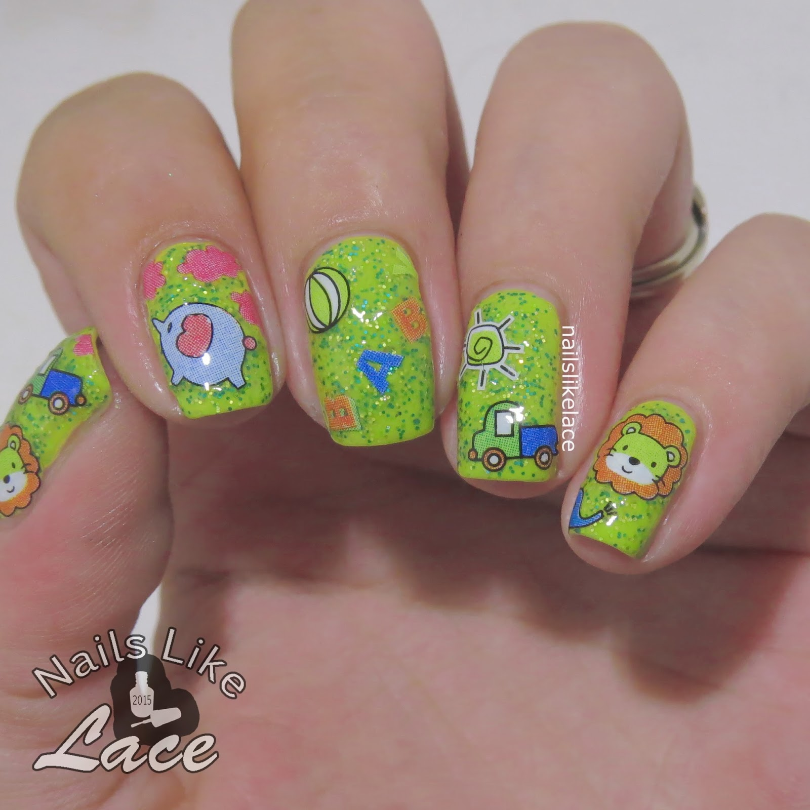 Baby Shower Jungle Nail Sticker Review