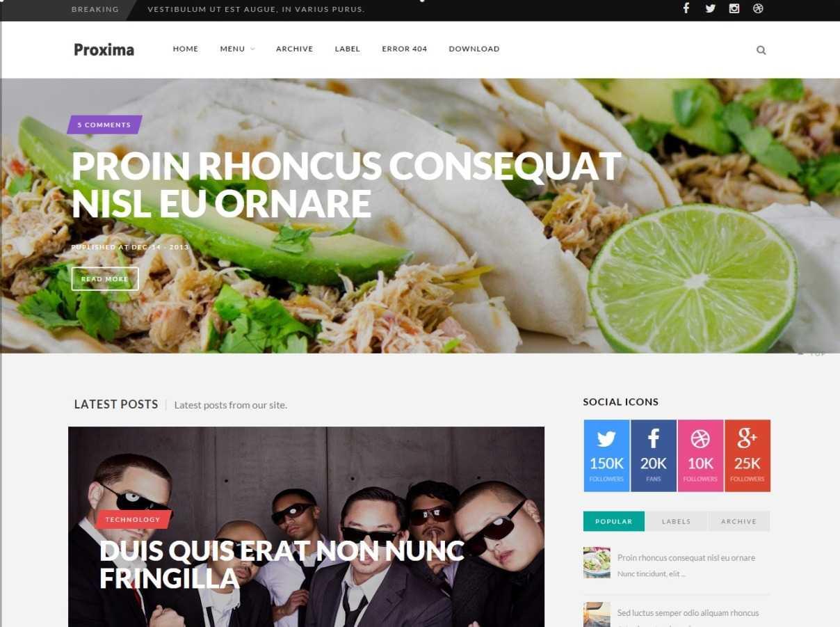 Proxima Designers Blogger Template