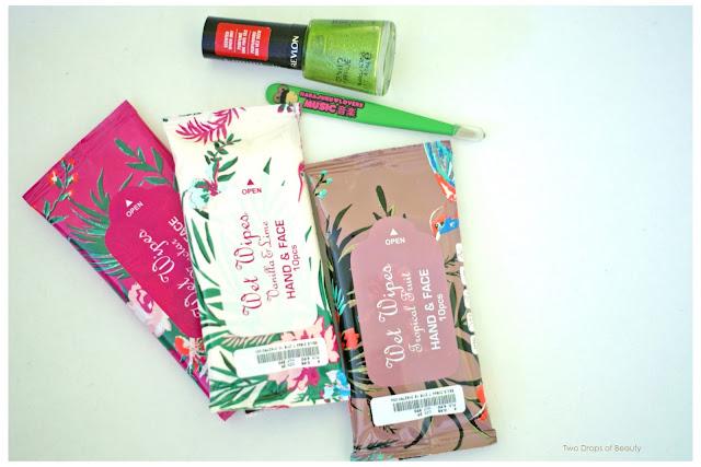H&M, revlon, tweezerman, яблочный аромат, пинцет, лак для ногтей, влажные салфетки