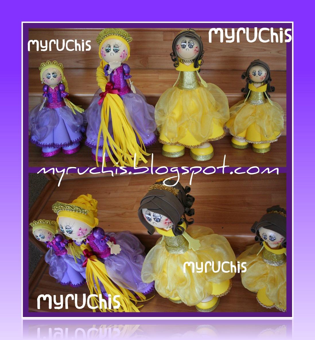 Decoración Fiestas Infantiles. Las princesas normales miden 35cm las