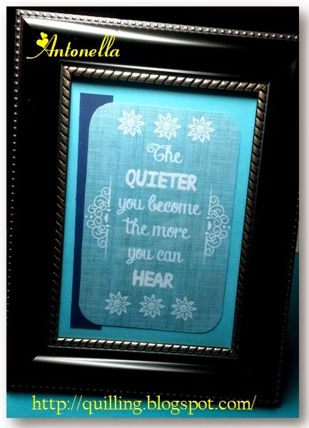 The Quieter you become, the more you will hear! Free printable from Antonella