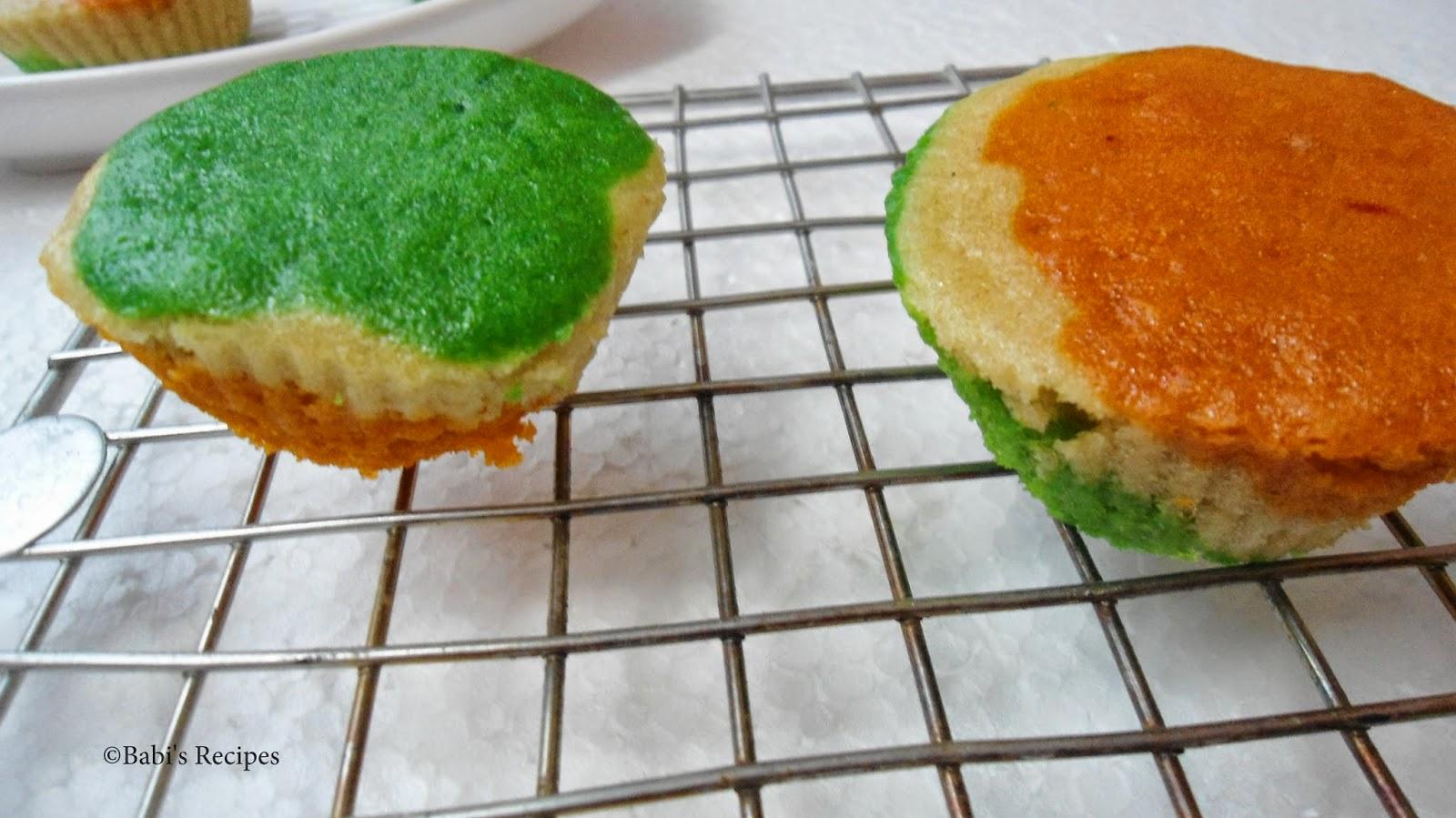 Eggless Tricolour Cake