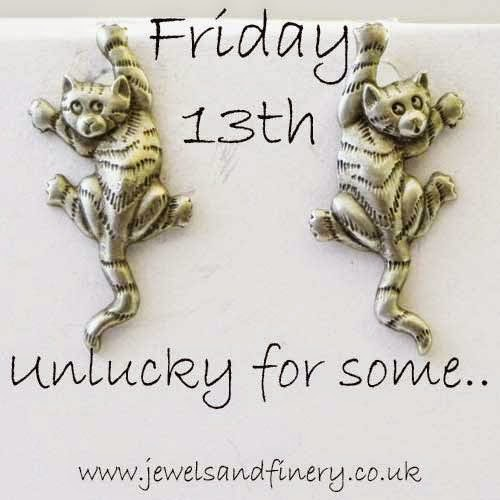 Friday 13th and cat earrings