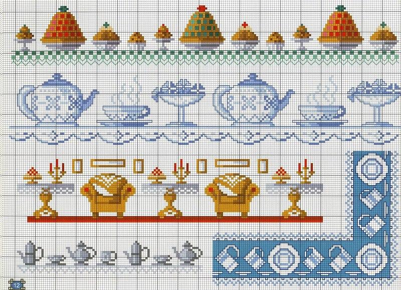 Вышивка крестиком схемы для вышивки каймы