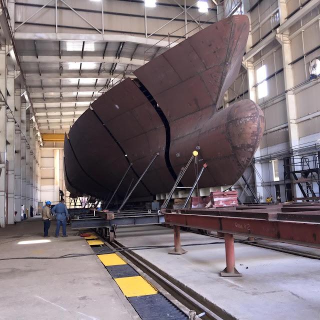 A buen ritmo avanza la construcción del tercer patrullero oceánico tipo OPV-80 MKII construido por Cotecmar para la Armada de Colombia.