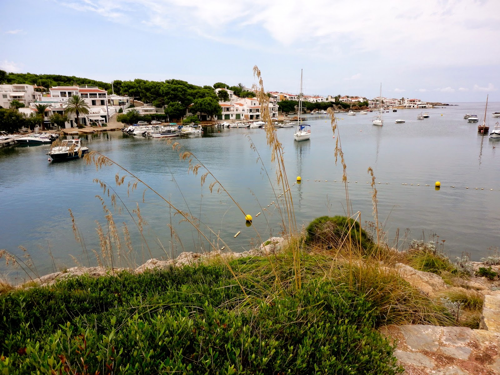 Travel Inspiration | Menorca, Spain | small quiet harbour with boats