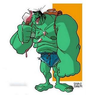 Gambar Superhero Lucu Gambar Superhero Lucu Hulk Traveling