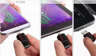 Flashdisk OTG untuk Android pertama dari SanDisk