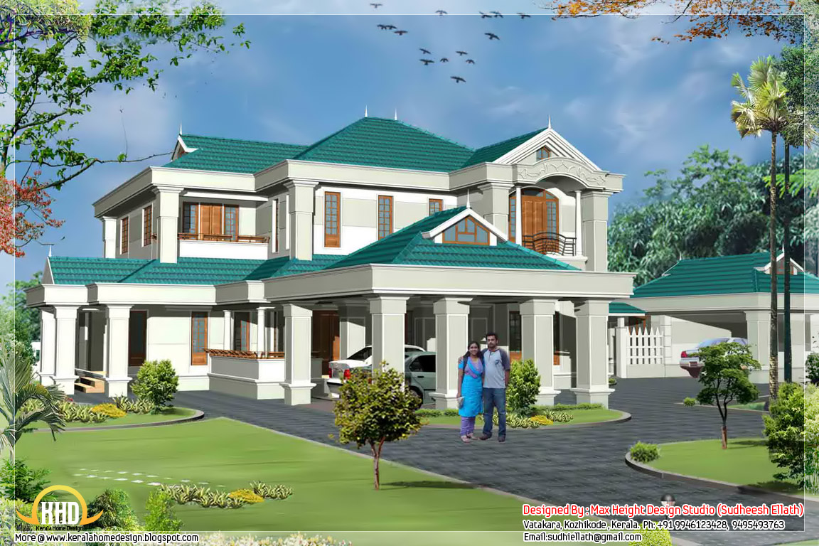 Luxury kerala villa 4250 sq ft kerala home design and for Villa plans in kerala