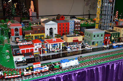 Shillitos Elves, Newport on the Levee Holiday, Lego Display
